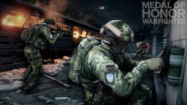 Im Combat-Mission-Modus versucht ihr in drei Abschnitten jeweils eine Bombe zu platzieren oder zu entschärfen.