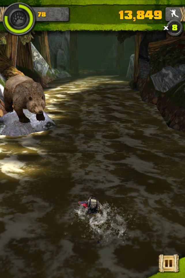 Hinter euch ein Bär, und vor euch auch: Jetzt wird es eng!