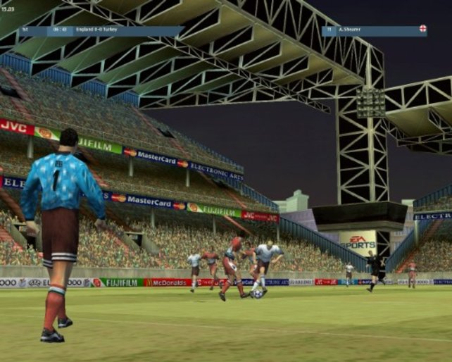 Ein Blick auf das Stadion.