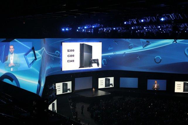 Sony verkündet auf ihrer Pressekonferenz den Preis der PS4.