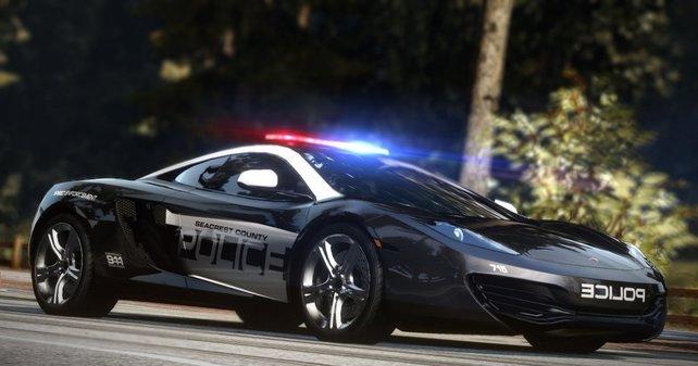 Um Rennfahrer zu schnappen, braucht die Polizei ganz besondere Wagen.