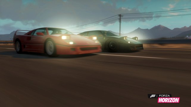 Egal ob bei Tag oder bei Nacht, Forza Horizon sieht super aus.
