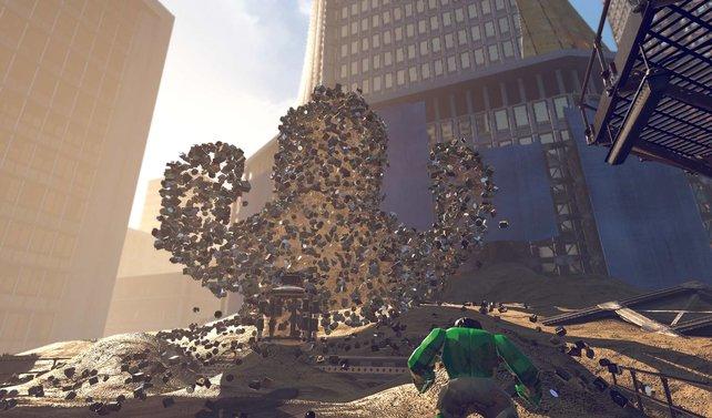 Der Hulk kurz vor dem Kampf gegen den Sandman.