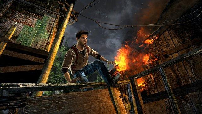 Uncharted - Golden Abyss nutzt die Möglichkeiten der PS Vita voll aus.