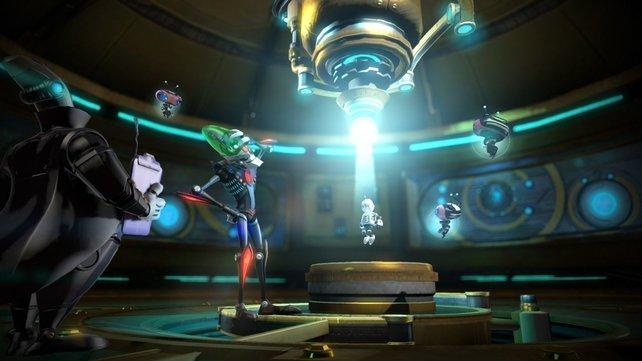 So beginnt das Abenteuer. der Roboter ist eingesperrt.
