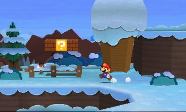 Mario ist auch in eisigen Gegenden unterwegs.