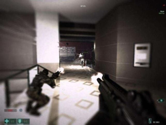 Beim Bullet-Time-Modus verschwimmt die Umgebung
