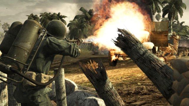Der zweite Weltkrieg endet: Call of Duty - World at War nimmt sich ein letztes Mal dieses historischen Themas an.
