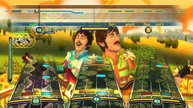 Flower-Power: Kein LSD-Rausch, das Spiel ist teilweise so knallbunt.