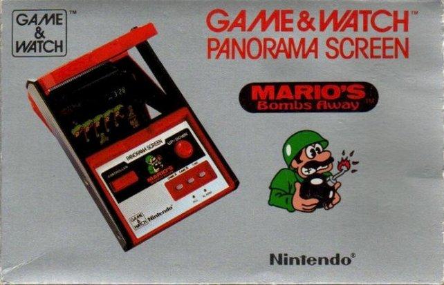 Wie Donkey Kong Circus gehört auch Mario's Bombs Away zur Panorama-Screen-Variante unter den 59 Game&Watch-Konsolen.