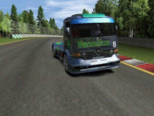 Das Spiel enthält sehr detailliert dargestellte Renntrucks.