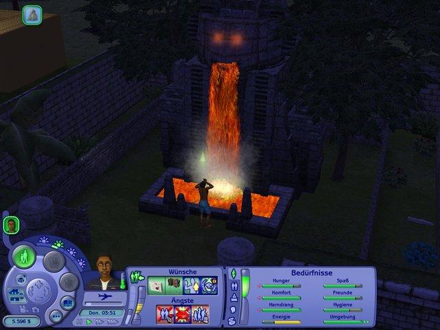 Da haben wir den Affenbrunnen wohl ein bisschen wütend gemacht....