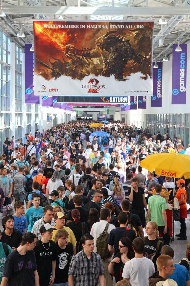Besucherrekord bei der diesjährigen gamescom - wenn auch denkbar knapp.