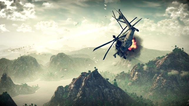 Apaches sind schwer gepanzert, aber nicht unverwundbar.