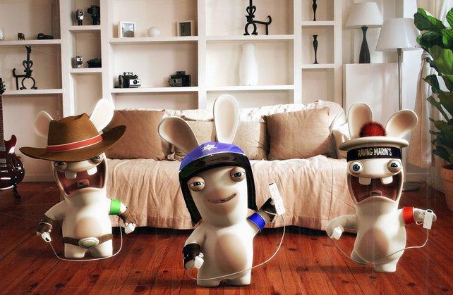 Die Rabbids machen sich bereit zum Angriff auf die Wii.
