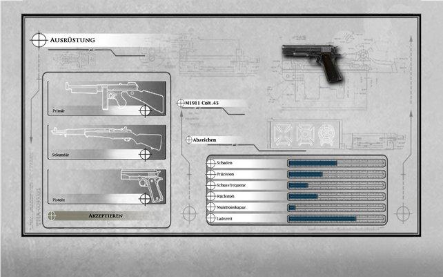 Ihr dürft eure Waffen individuell auswählen