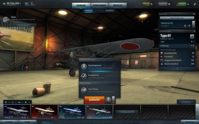 Größte Baustelle von World of Warplanes ist der geringe Umfang.