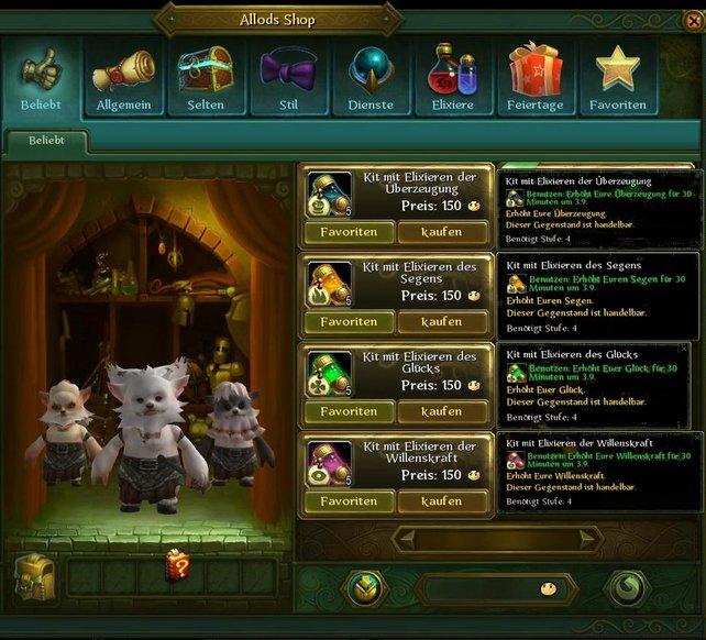 """Kostenlose Online-Rollenspiele finanzieren sich vor allem über den """"Shop""""."""