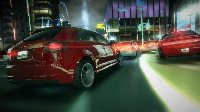 Der Blur-Fuhrpark umfasst mehr als 50 lizensierte Autos - vom Audi bis zum Hummer.