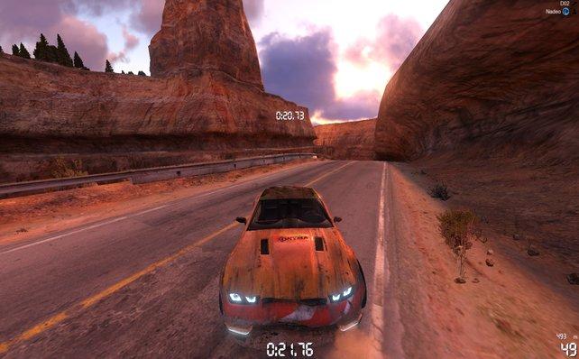 In Trackmania 2 - Canyon gibt es nun ein Schadensmodell, das sich allerdings nur optisch auswirkt.