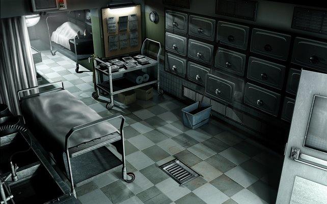 In der Leichenhalle müssen wir einen Toten wiegen. Welchen Toten? Wird auch nicht verraten.
