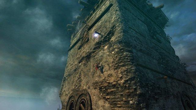 Inspiration die Fünfte: Diese Szene erinnert an die Kletterabschnitte in Assassin's Creed.