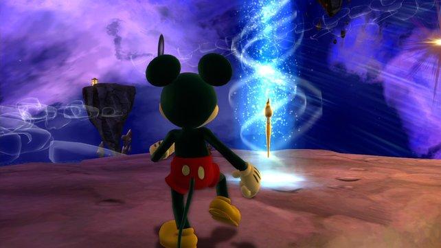 Ein Geschenk wartet auf Micky, den ihr wie so oft von hinten seht.