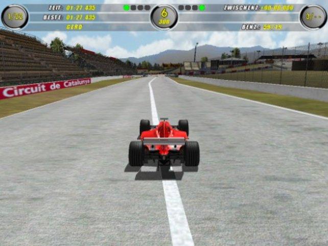 Mit Höchstgeschwindigkeit über eine lange Gerade