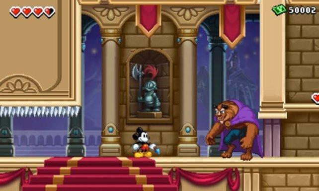 Im Schloss trifft Micky auf das berühmte Biest.