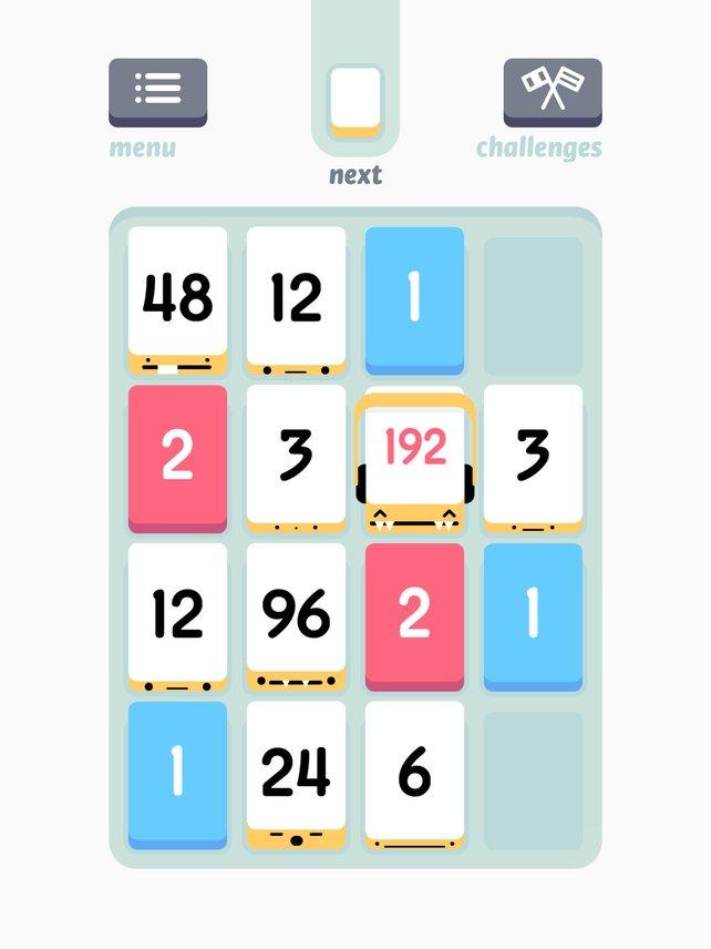 Simpel, aber genial: Fügt gleichwertige Zahlenblöcke zusammen, um möglichst hohe Punkte zu erzielen.