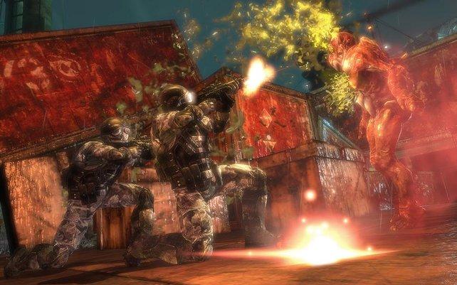 Im Multiplayer treffen Soldaten auf Mutanten.