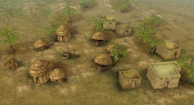 Die ersten Hütten