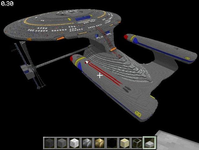 Die USS Enterprise: Das wohl bekannteste Minecraft-Großprojekt.