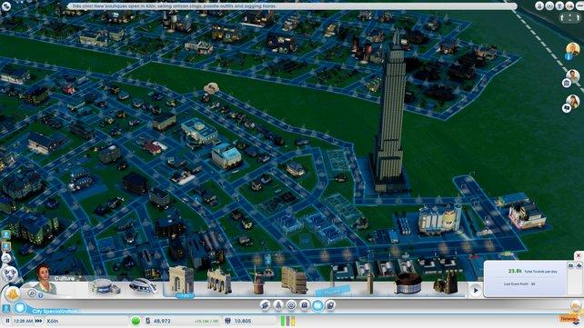 Das Empire State Building mitten in der Stadt? Warum nicht ...