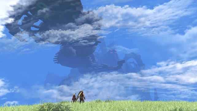 Eine große Fernsicht: Im Hintergrund seht ihr den zweiten, versteinerten Gott.