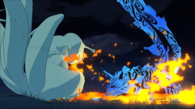 Die Jinchuuriki verwandeln sich im Erwacht-Zustand in ihre Bijuu.
