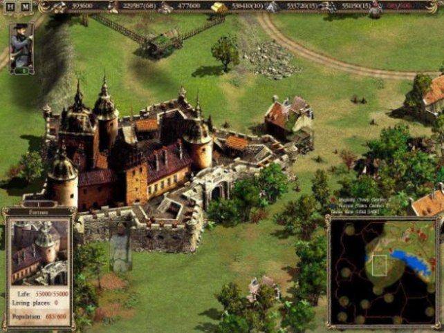 Ein schön gestaltete Burg