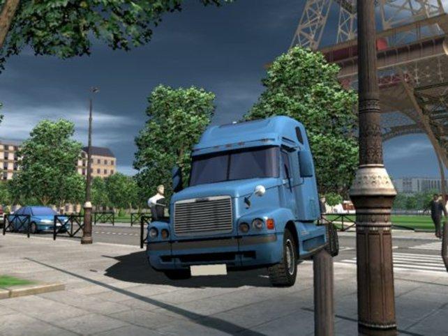Truck auf dem Gehweg ...