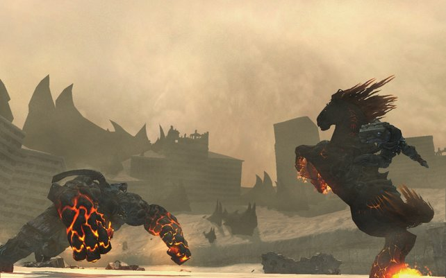 Ihr spielt einen Reiter der Apokalypse - Krieg.