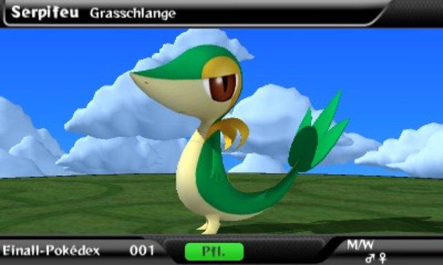 150 Pokémon der jüngsten Generation sammelt ihr im Pokédex.