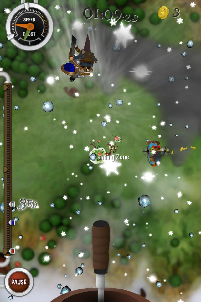 Ohne Fallschirm stürzen Gartenzwerge Richtung Erde. Sachen gibt's!