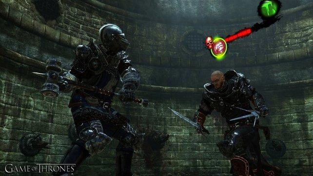 Ihr könnt euren Charakter mit unterschiedlichen Waffen und Rüstungen bewaffnen.