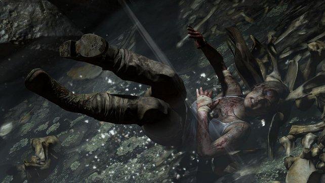 Lara fängt sich im Laufe des Spiels schwere Verletzungen ein.