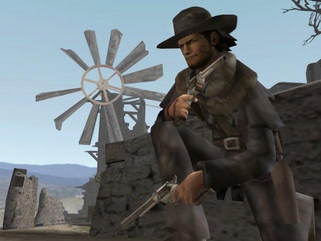 Der grimmige Gesichtsausdruck verrät es: Red Harlow ist zu allem entschlossen (Red Dead Revolver).