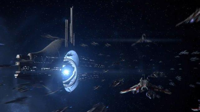 Volle Attacke! Shepard mobilisiert die halbe Galaxis, um die Erde zu retten.