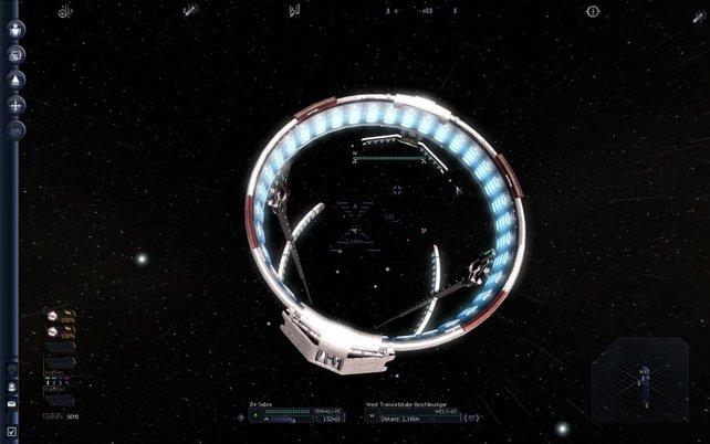 Die Raumtore erlauben die schnelle Reise zu benachbarten Raumquadranten
