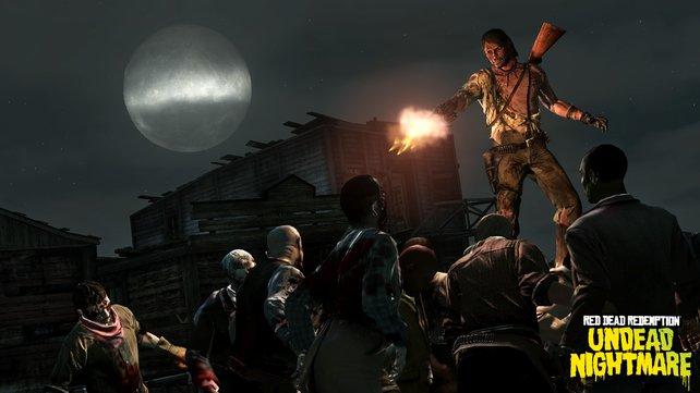 Zombies greifen setts in Massen an - eure Munition geht schnell zu Neige.