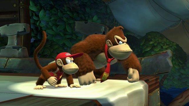Die Zwischensequenzen sehen atemberaubend gut aus. Und an diesen Gesichtern seht ihr auch, dass es eindeutig ein Fehler war, die Bananen der Kongs schockzufrosten.