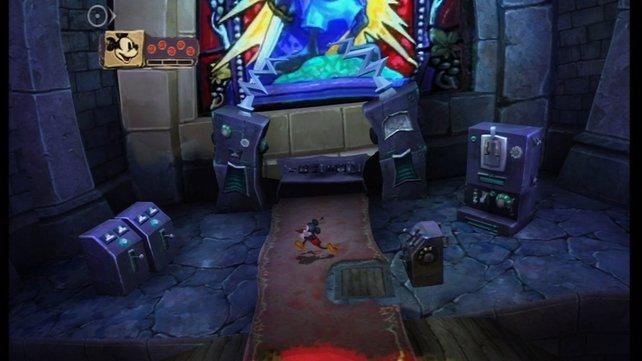 Das Spiel beginnt im Labor des verrückten Doktors.