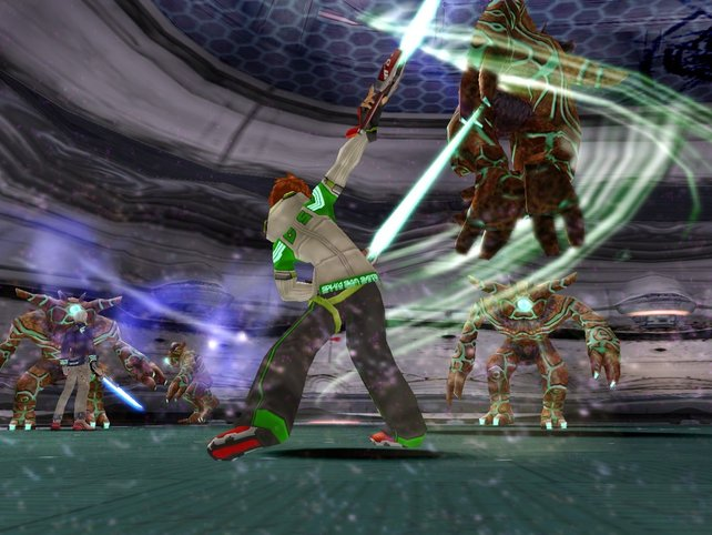 Mit dem Laserschwert sind Gegner realtiv schnell erledigt